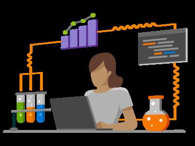Asp.Net experiment lab microsoft visual studio visualstudio flat vector branding illustration design
