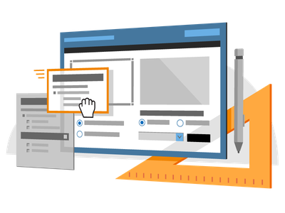 Msft Asp.Net flat vector branding illustration design