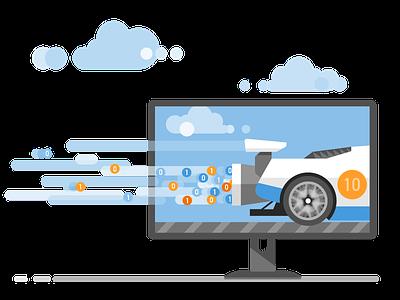 Data Acceleration visual studio microsoft ux ui flat vector branding illustration design
