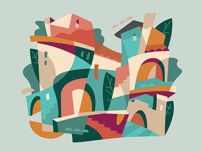 Avignon acrylic france avignon ux ui flat vector illustration design