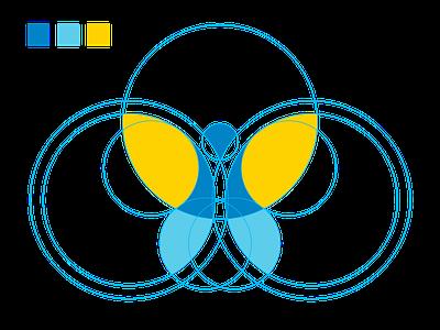 mentor rings structure microsoft icon ui ux logo flat branding vector illustration design