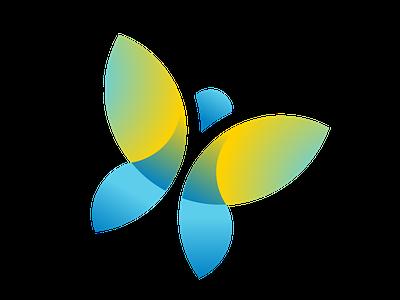 mentor rings logo butterfly microsoft icon ui ux logo flat branding vector illustration design