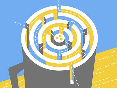 OKR poster – facilitating better design thinking coffee microsoft icon ui ux logo flat branding vector illustration design