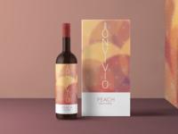 Wine Bottle Packaging - Peach