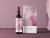 Wine Bottle Packaging - Plum