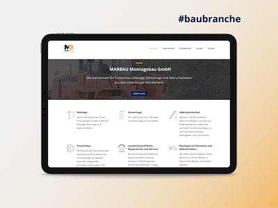 Construction Company in Germany - Website website design website ui kit branding web logo web development