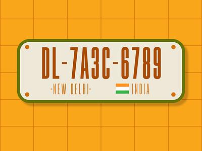 Weekly Warmup #06- License Plate license delhi weekly challenge weeklywarmup grid design vector india new delhi license plate dribbbleweeklywarmup dribbble typography