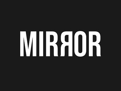 type #07- mirror typeface expressive typography wordmark typography vector minimal art minimalist logo reflection mirror dribbbleweeklywarmup logomark logotype illustration flat dribbble