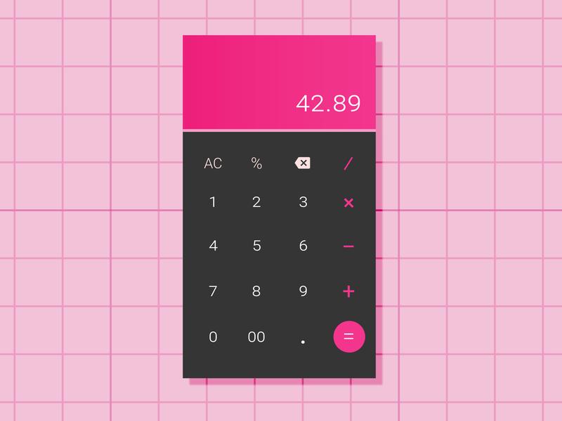 Calculator UI flat app ux app ui flat design interface vector design daily ui calculator app design ui