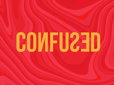 type #04- confused texture fluid red daily challange confused design logo logotype logomark flat minimal art typography vector