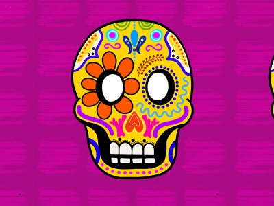 Day of the Dead Mask procreate dribbble masked skull day of the dead mexico mask vector flat illustration