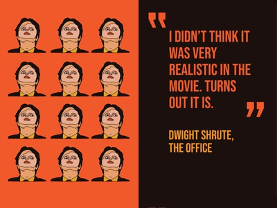 Masked #08 duotone warm colors brown orange michael scott dwight schrute the office minimal art dribbble typography procreate mask design flat illustration vector