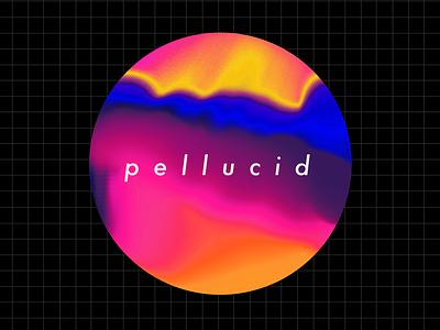 p e l l u c i d yellow warm tones blue gradients colorful colourwheel grid circles baugasm abstract pellucid typography