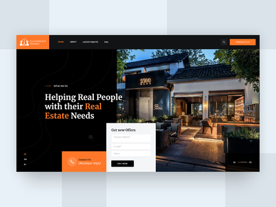 Illustrious Home - Real Estate Website Mock-up