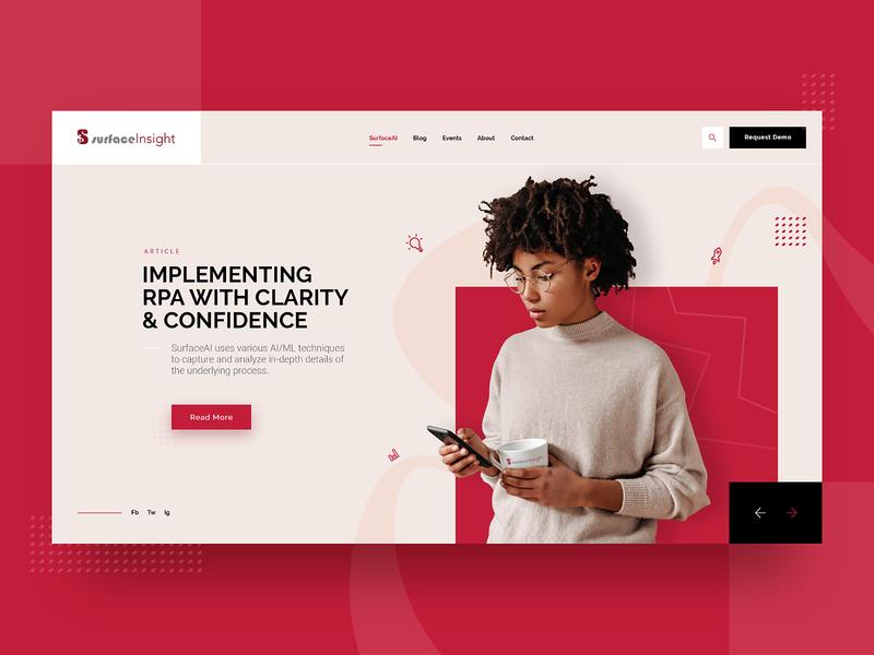 Consulting Company Web Design Mockup