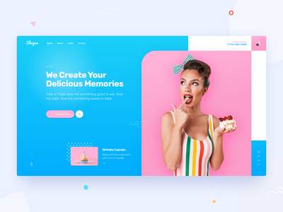 Bakery Ecommerce Website Design for Shugaa store homepage design homepage product page eccomerce blue pink bakery confectionery web design themeforest theme design theme for wordpress rezfelix wordpress webdesign ui web design