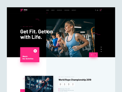 Sports Theme Design sports website web design gym website gym product product design sports theme sports design sports ux ui website theme design themeforest theme for wordpress wordpress webdesign rezfelix web design