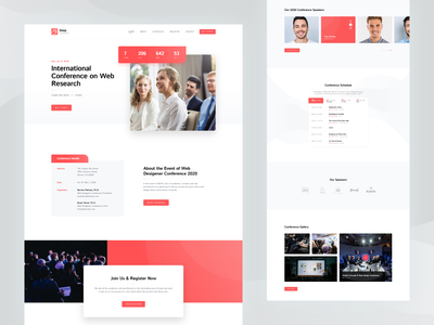 Conference Theme ui  ux design uiux uidesign international conference internatiol speech sermon conference ux ui web design website theme for wordpress theme design themeforest wordpress web rezfelix webdesign design