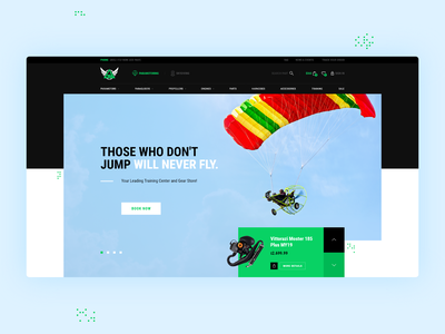 Sports Website Design for Glider Sports theme themeforest graphic design paramotors skydiving engine glider sports glider sports sport web design theme design website theme for wordpress wordpress webdesign ui web design rezfelix