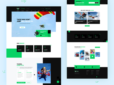 Sports Website Design for Glider Sports engine rez felix paramotor skydiving skydive accessories glider sport glider sports design sports branding web design website themeforest theme for wordpress wordpress web webdesign ui design rezfelix