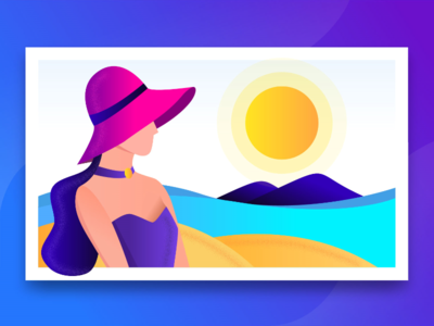 Travel Agency - Beach illustration charachter design cartoon agency travel agency beach vector product illustration web desgin sketch web graphic summer character sea girl design rezfelix drawing