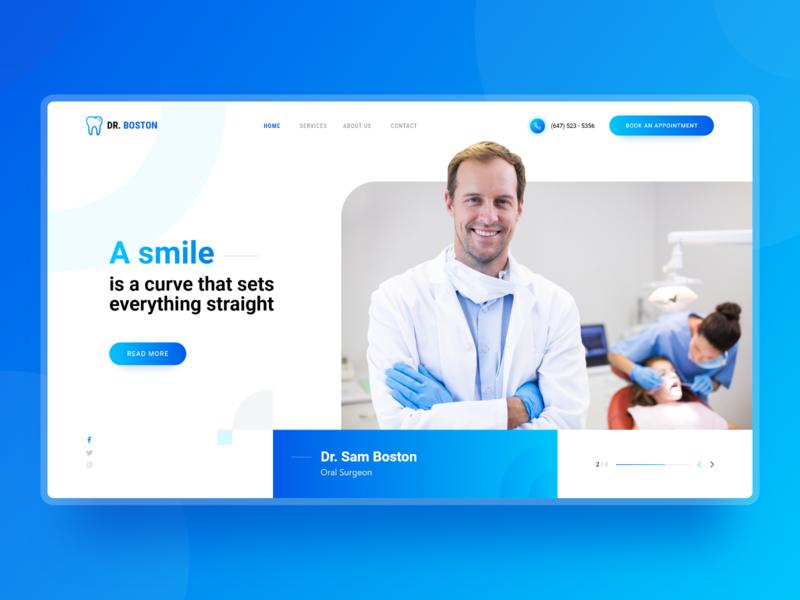 Dental Surgeon Website Mockup UX/UI Design