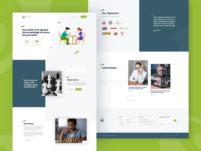 Samvedna NGO Chess Sports Website Mockup sports branding website design branding brand identity web design webdesigning sports chess sport themeforest theme for wordpress wordpress website ux ui webdesign rezfelix design web