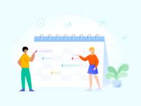 Calendar Illustration - Modern Event Calendar
