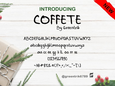 Font Preview Coffete handwritten font handlettering typography graphic design fonts font design font awesome design company clean adobe illustrator