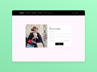 DailyUI Design - #1 Login Page website web design ux branding ui