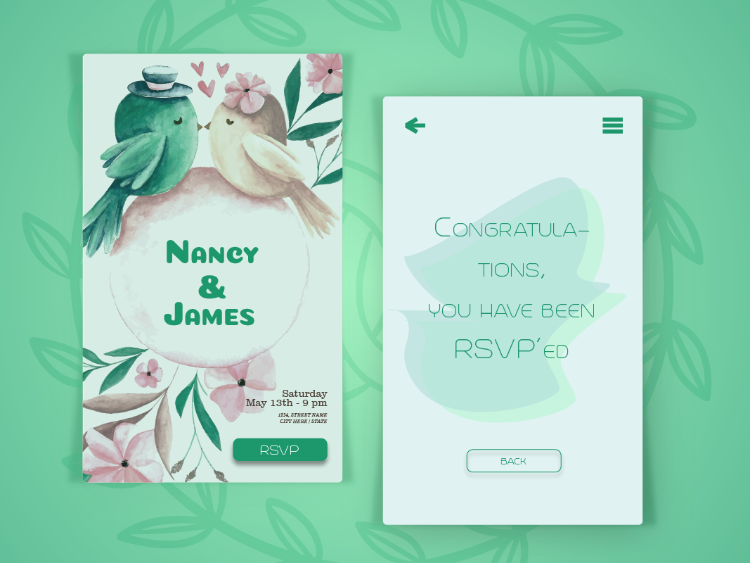Wedding Card E Invitation By Yaltha Rullist On Dribbble