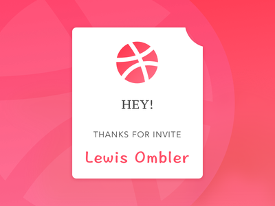 Hello Dribbbler's! Here's My First Shot ui material invite debut dribbble card first shot