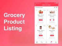 Grocery App Product Listing