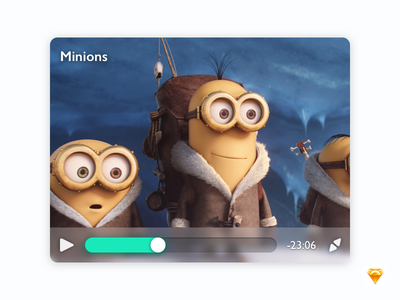 Video Player ux ui app video player minions