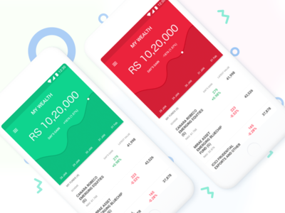 Money Control - My Wealth App design ux ui app money finance