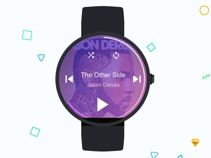 Moto 360 Watch - Music Player ux ui smart watch music player moto 360