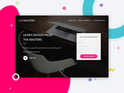 UXDMasters webpage for #dailyui #challenge #003 learn challenge dailyui ux ui webpage uxdmasters