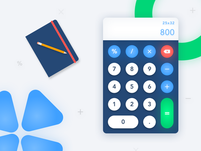 Calculator for #dailyui #challenge #004 ux clean ui dailyui challenge calculator