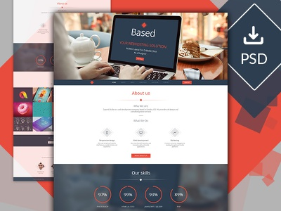 Based Layout Design free psd uiux layout design flat design logo design icon design simple ui
