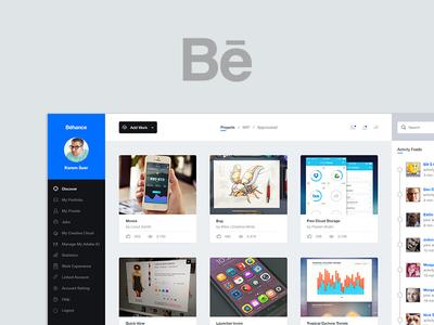 Behance Dashboard UI behance dashboard ui agileinfoways ui design design user interface ux design