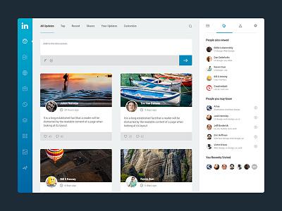 Linkedin Dash user interface ui design dashboard ux interface icons agileinfoways socail