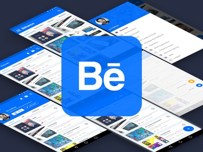 Behance App with Material Design user interface ui design ux agileinfoways google matertial app interface icon