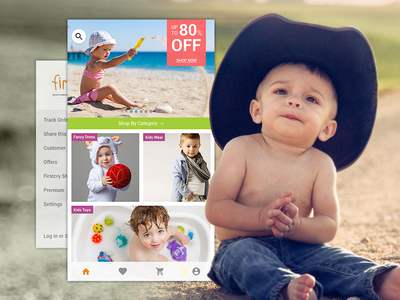Firstcry App - Redesign concept! webdesign interface love india ux mobile baby ui design user interface