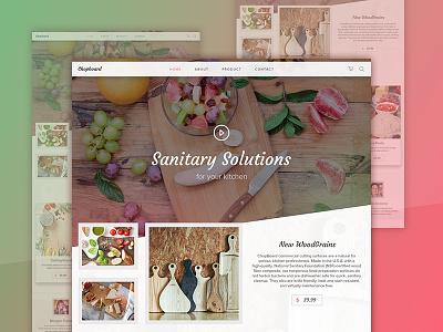 Chopboard ecommerce web design wooden chopboar layout design ux ui