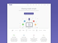 Redesign Droplr Homepage