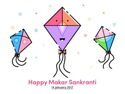 Happy Kite Festival vector iconic graphic illustration icons colors kite design