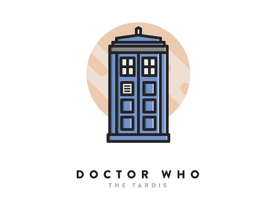 Doctor Who Icon doctor who simple icon icon design sci-fi