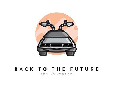Back To The Future Icon simple icon icon design sci-fi back to the future