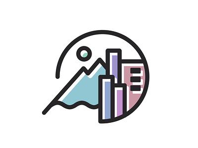 Simple City Icon minimalist design city icon simple icon line drawing