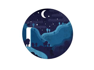 Night Sky Illustration illustration landscape night sky